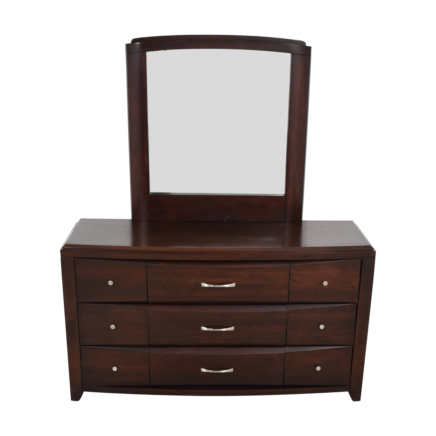 Casana Casana Nine-Drawer Dresser with Mirror used