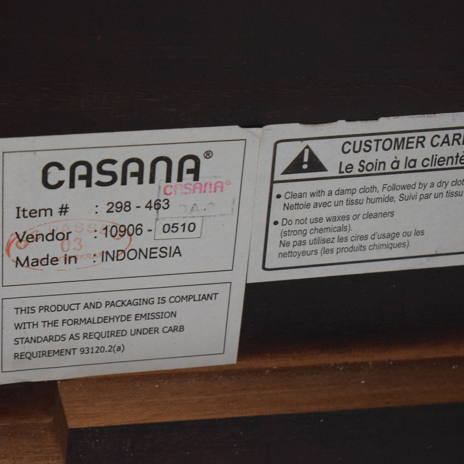 Casana Casana Black and Wood Queen Bed Frame