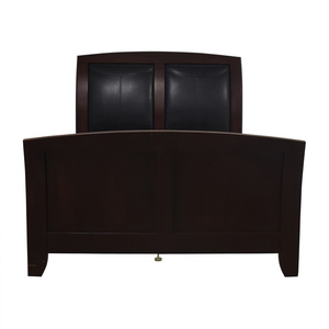 Casana Furniture Casana Black and Wood Queen Bed Frame coupon