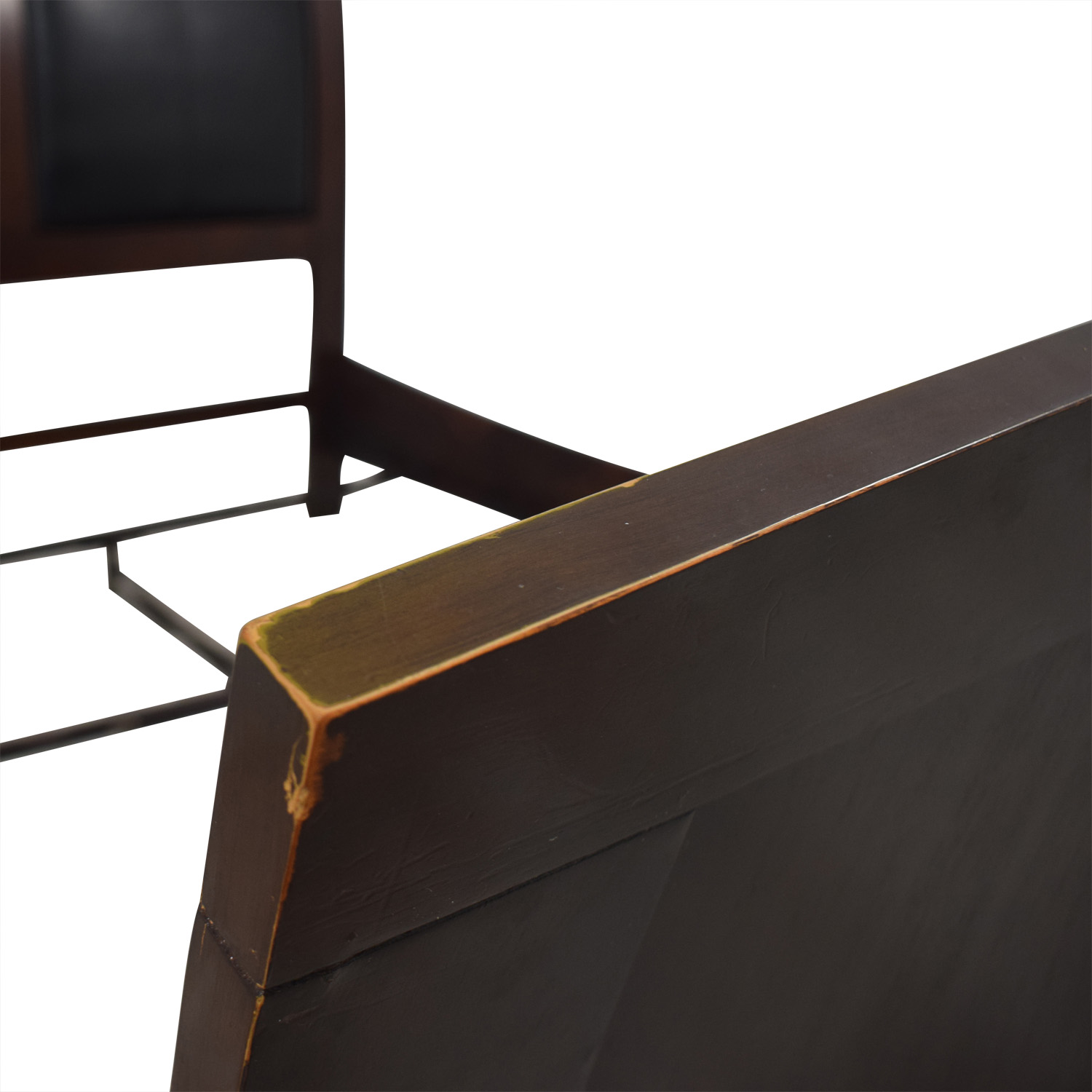 Casana Casana Black and Wood Queen Bed Frame nyc