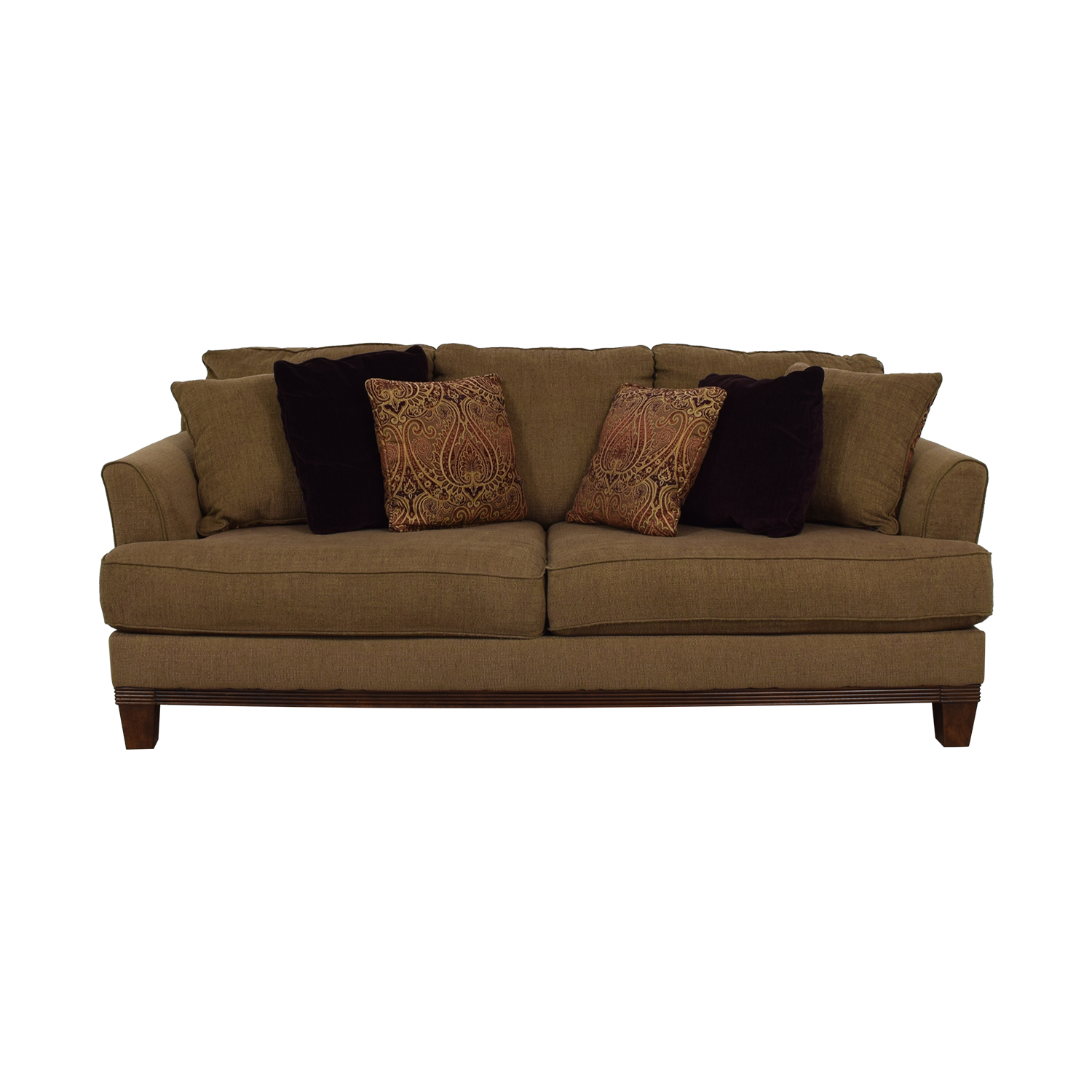 Ashley Furniture Ashley Furniture Brown Two-Cushion Sofa Sofas