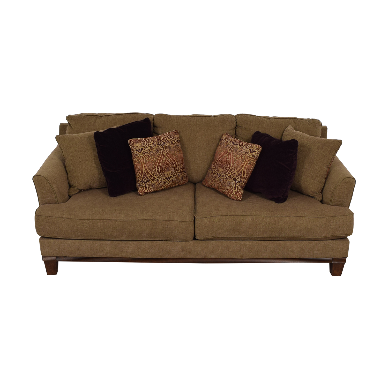 Ashley Furniture Brown Two Cushion Sofa Clic Sofas