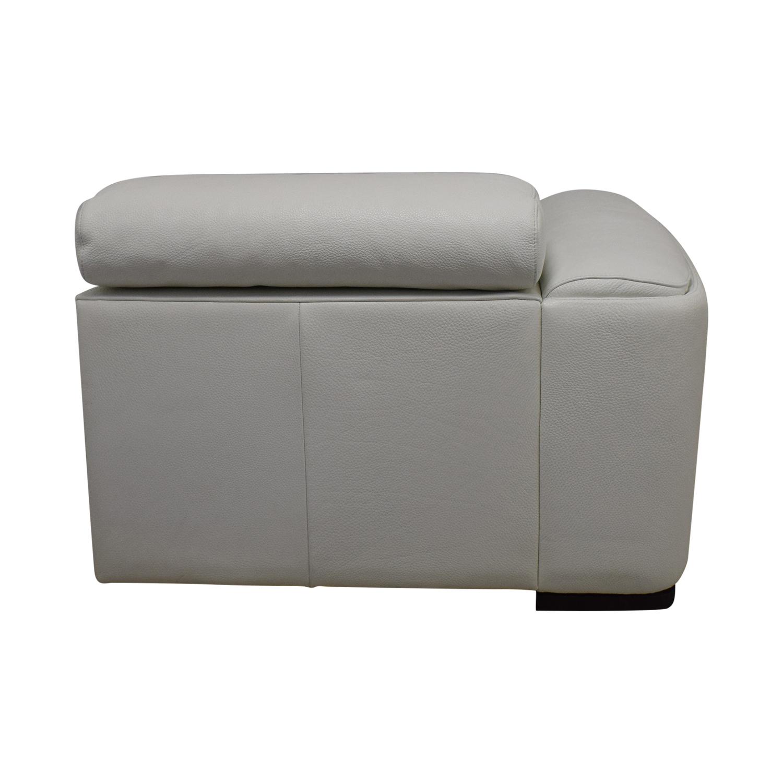 Lazzoni Lazzoni White Three-Cushion Sofa dimensions