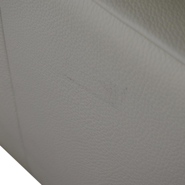 Lazzoni Lazzoni White Three-Cushion Sofa nyc