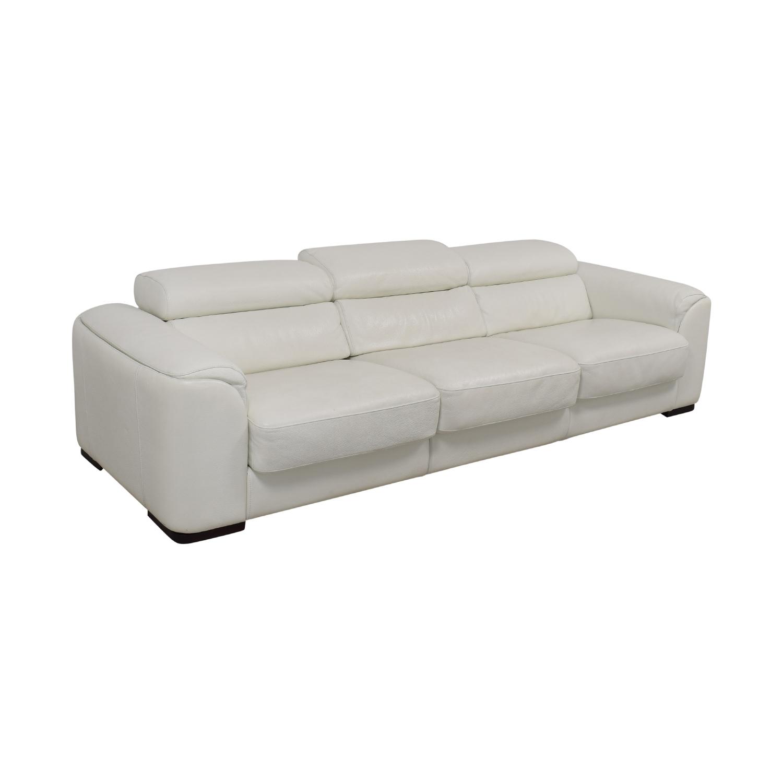 Lazzoni White Three-Cushion Sofa sale