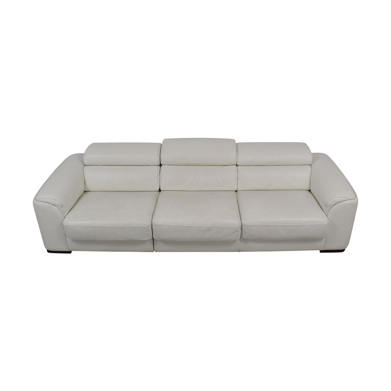 shop Lazzoni White Three-Cushion Sofa Lazzoni Sofas