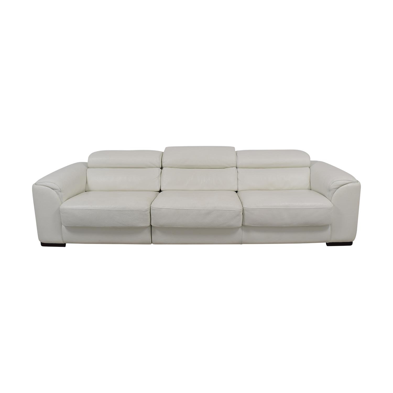 Lazzoni Lazzoni White Three-Cushion Sofa on sale