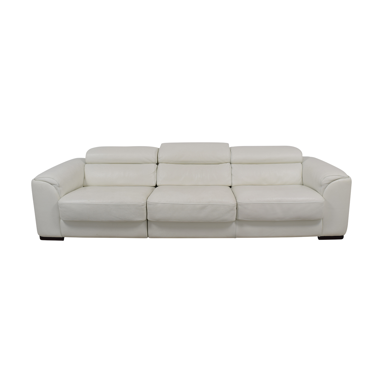 Lazzoni White Three-Cushion Sofa Lazzoni