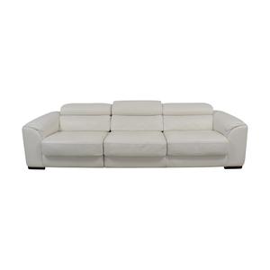 shop Lazzoni White Three-Cushion Sofa Lazzoni