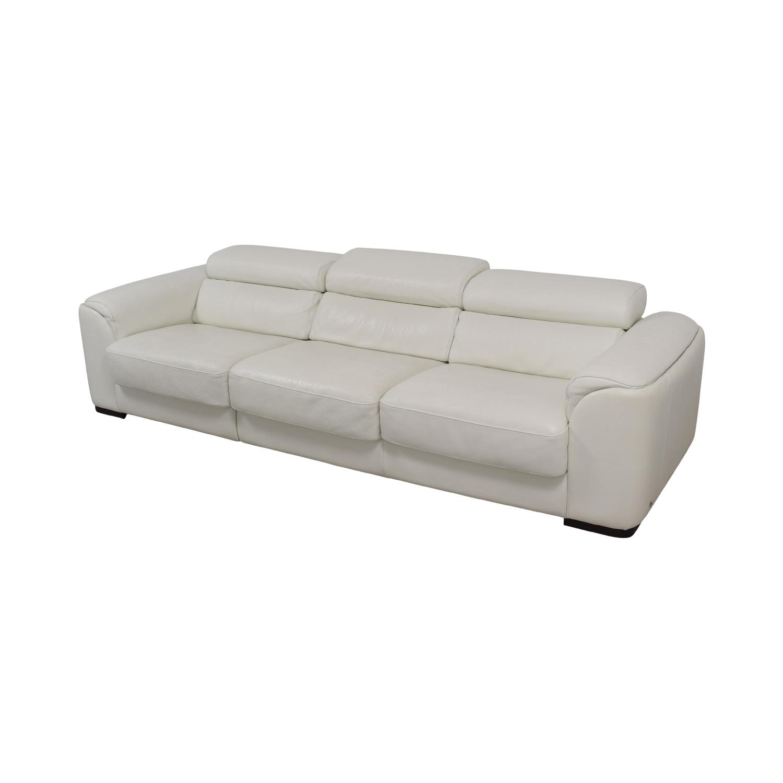 Lazzoni Lazzoni White Three-Cushion Sofa Classic Sofas