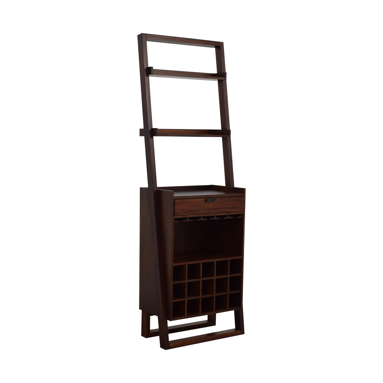 buy Crate & Barrel Crate & Barrel Brown Leaning Wine Bar online