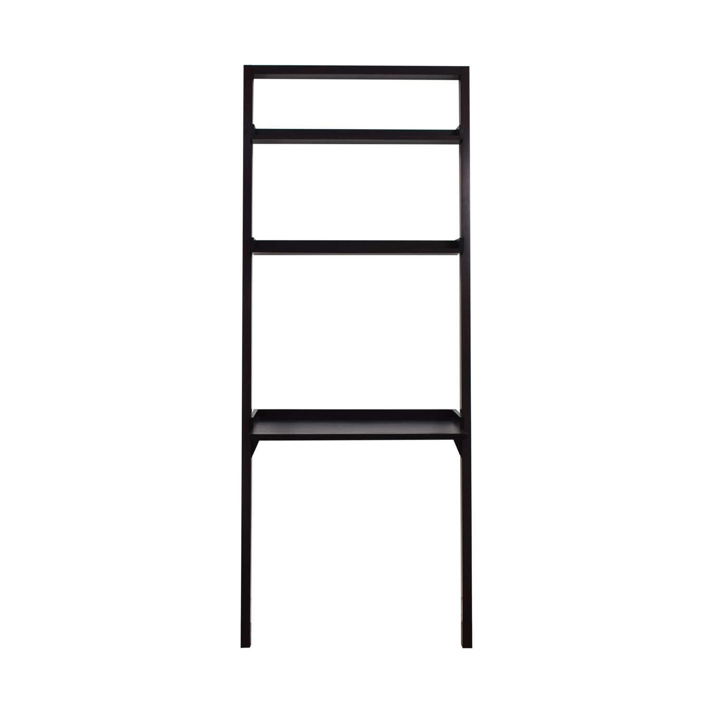 shop Crate & Barrel Brown Leaning Ladder Desk Crate & Barrel Tables