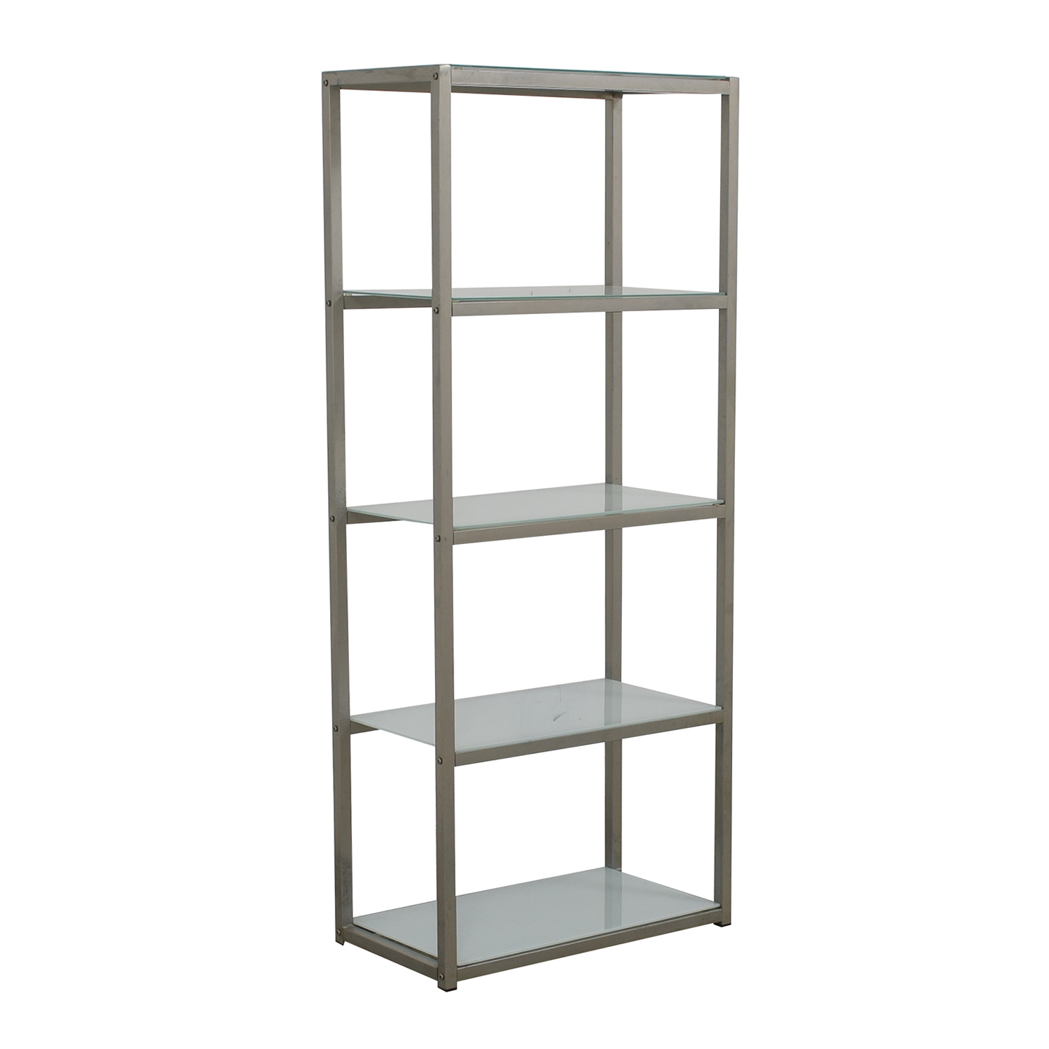 shop Crate & Barrel Pilsen Glass and Chrome Shelves Crate & Barrel Bookcases & Shelving