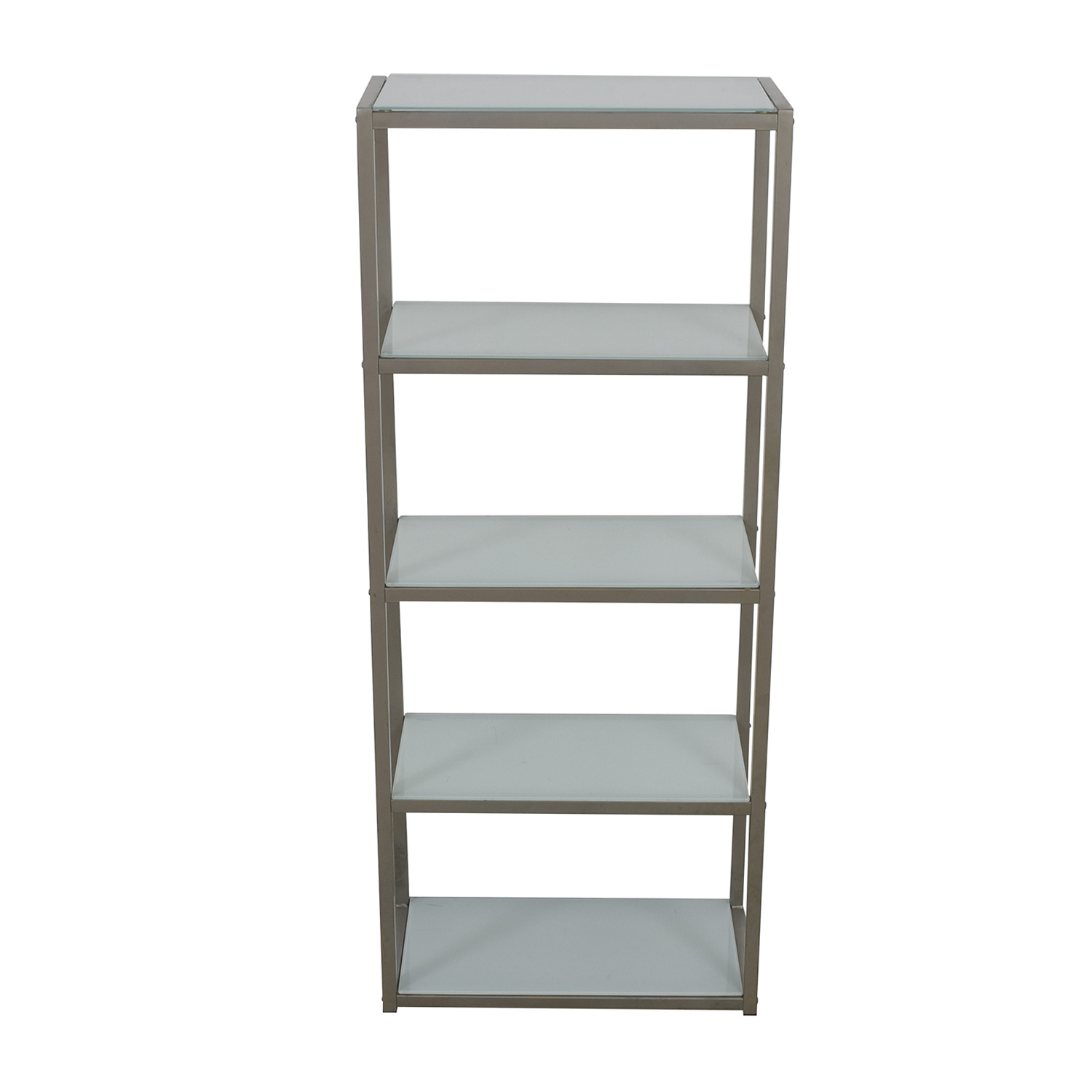 Crate & Barrel Crate & Barrel Pilsen Glass and Chrome Shelves price