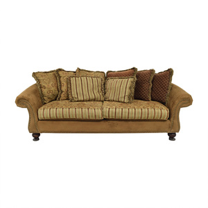 Cindy Crawford Home Cindy Crawford Home Microfiber Faux Suede Nailhead Two-Cushion Couch price
