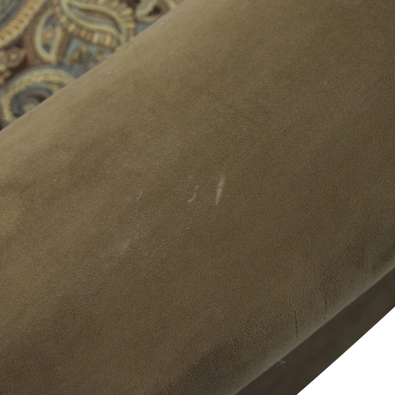 Cindy Crawford Home Microfiber Faux Suede Brown Nailhead Loveseat sale
