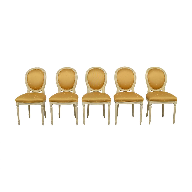 Gold Fleur De Lis Dining Chairs on sale