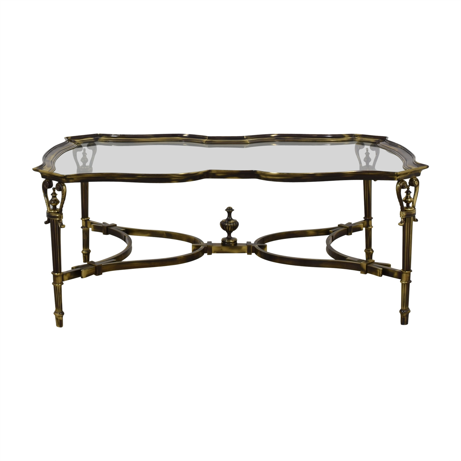 shop Brass and Glass Coffee Table  Coffee Tables