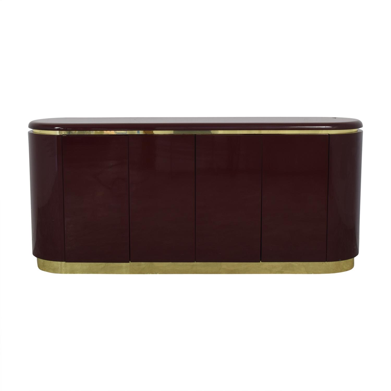 shop Philip Daniel Philip Daniel Mahogany Lacquered Console with Brass Trim online