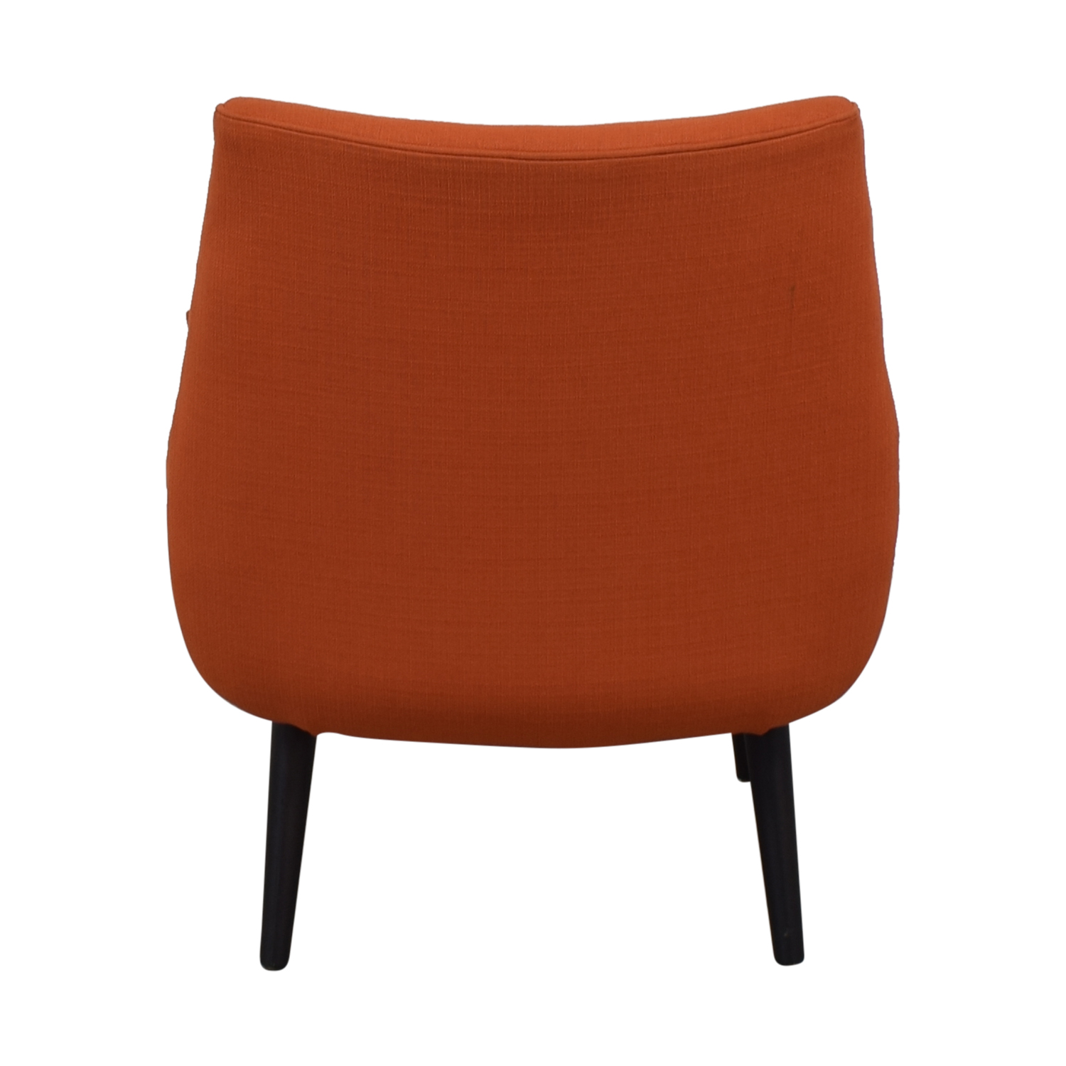 Johnathan Alder Mrs. Godfrey's Orange Accent Chair Johnathan Alder