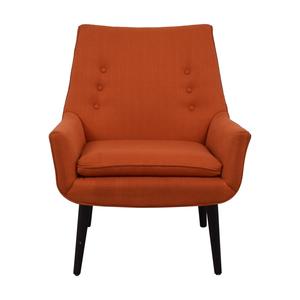 Jonathan Adler Johnathan Alder Mrs. Godfrey's Orange Accent Chair price
