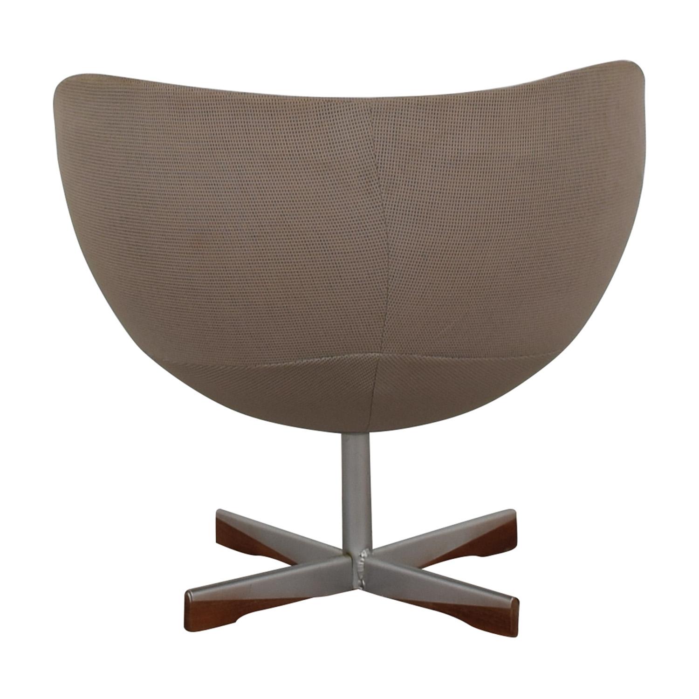 shop Mid-Century Beige Bowl Accent Chair