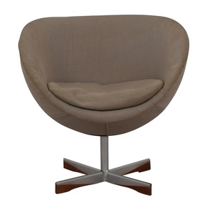 buy Mid-Century Beige Bowl Accent Chair  Chairs