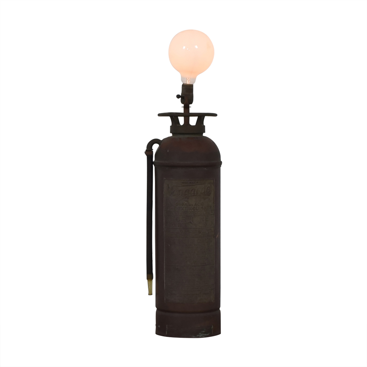 shop  Vintage Fire Extinguisher Lamp with Open Bulb online