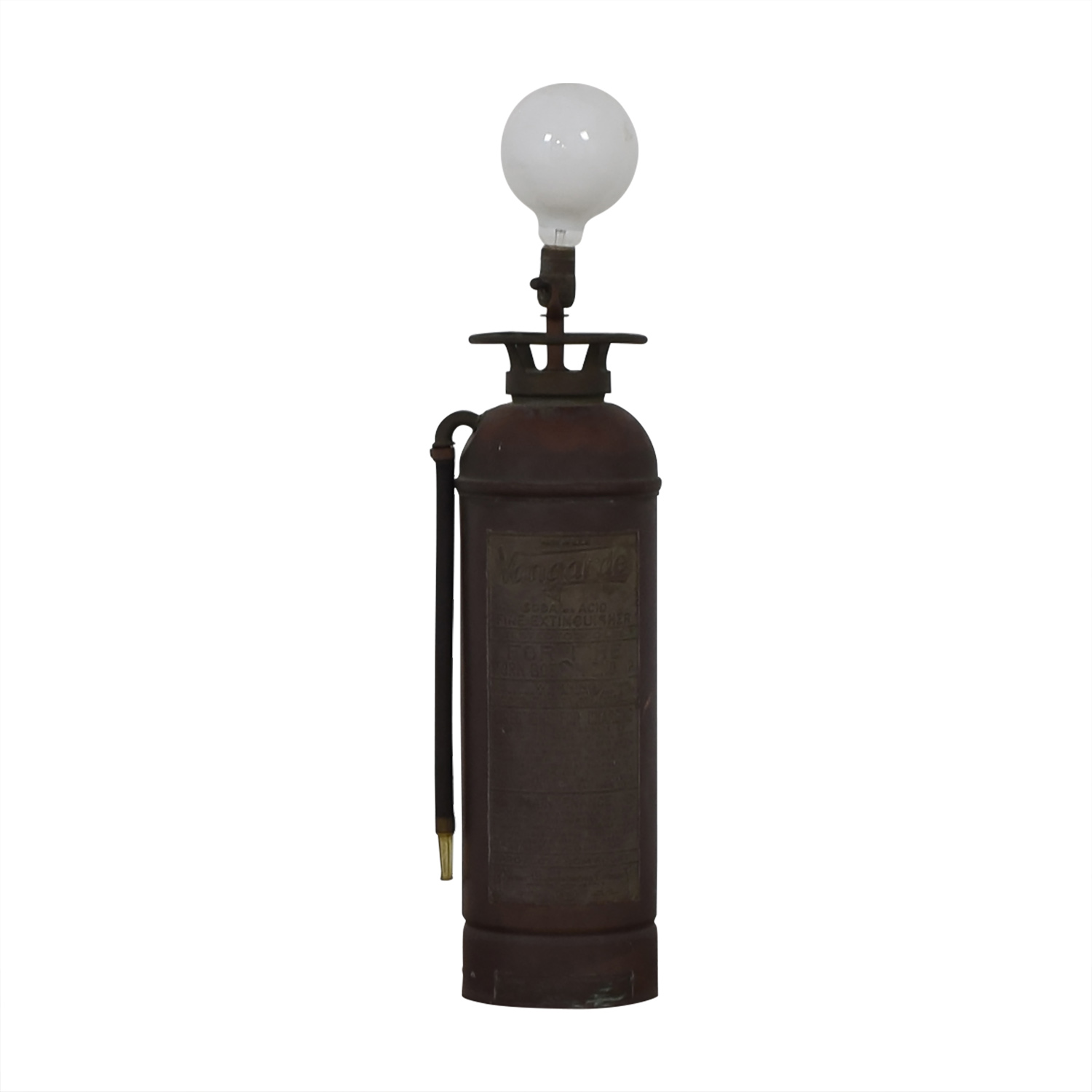 Vintage Fire Extinguisher Lamp with Open Bulb discount