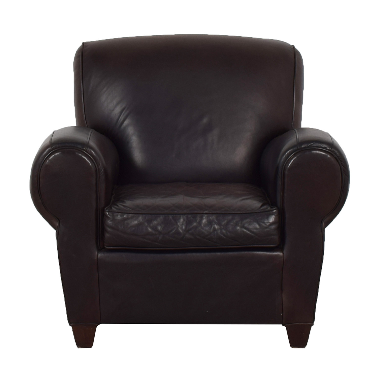 Mitchell Gold + Bob Williams Mitchell Gold + Bob Williams for Pottery Barn Brown Leather Chair for sale