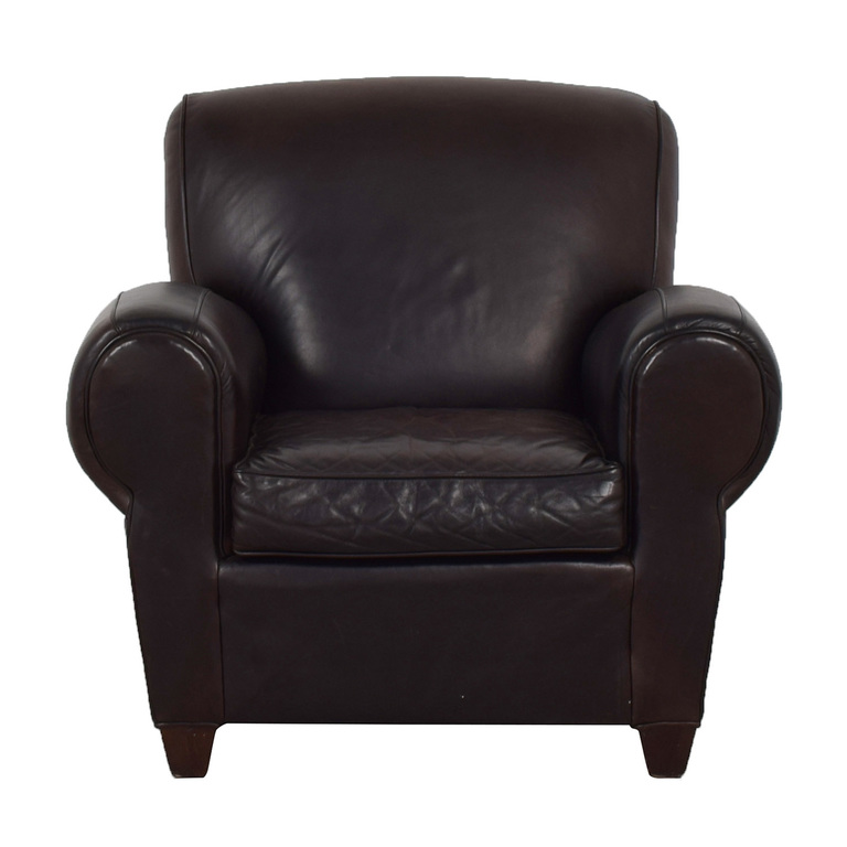 Mitchell Gold + Bob Williams Mitchell Gold + Bob Williams for Pottery Barn Brown Leather Chair nj