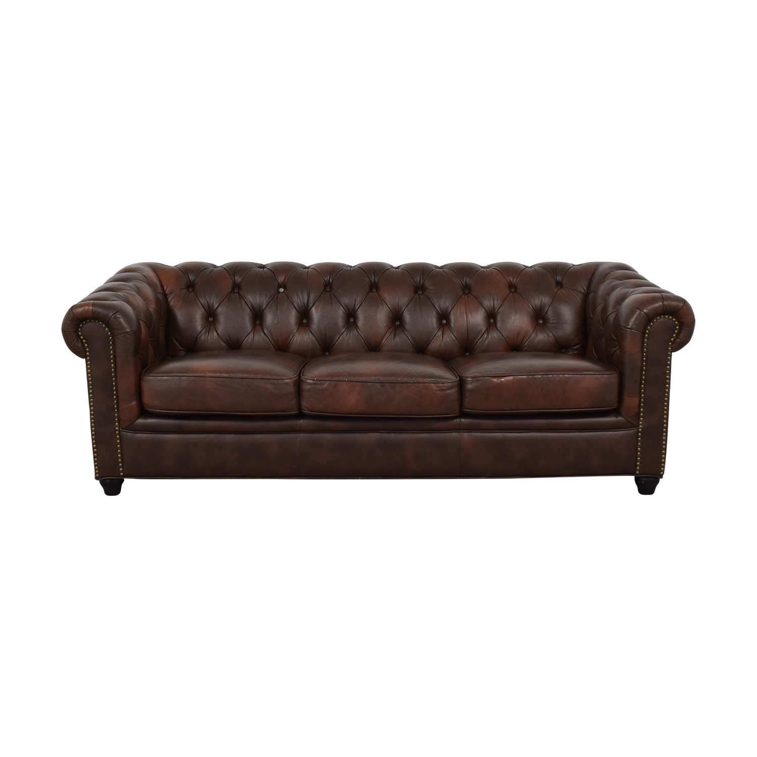 Abbyson Living Abbyson Living Brown Tufted Three-Cushion Sofa discount