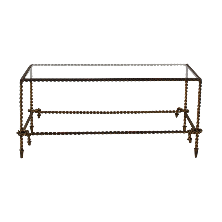 Rectangular Brass and Glass Coffee Table coupon