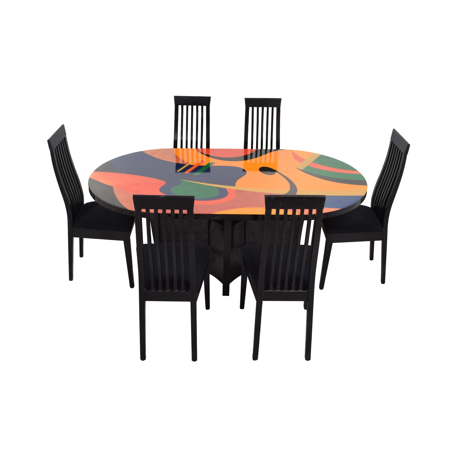 Calligaris Calligaris Custom Picasso Top Black Dining Set discount