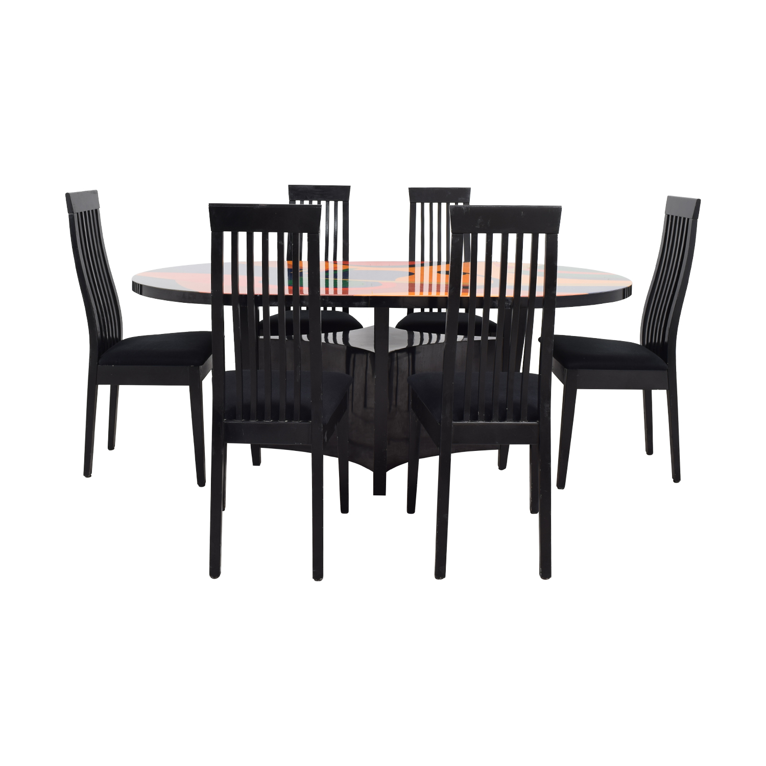Calligaris Calligaris Custom Picasso Top Black Dining Set for sale