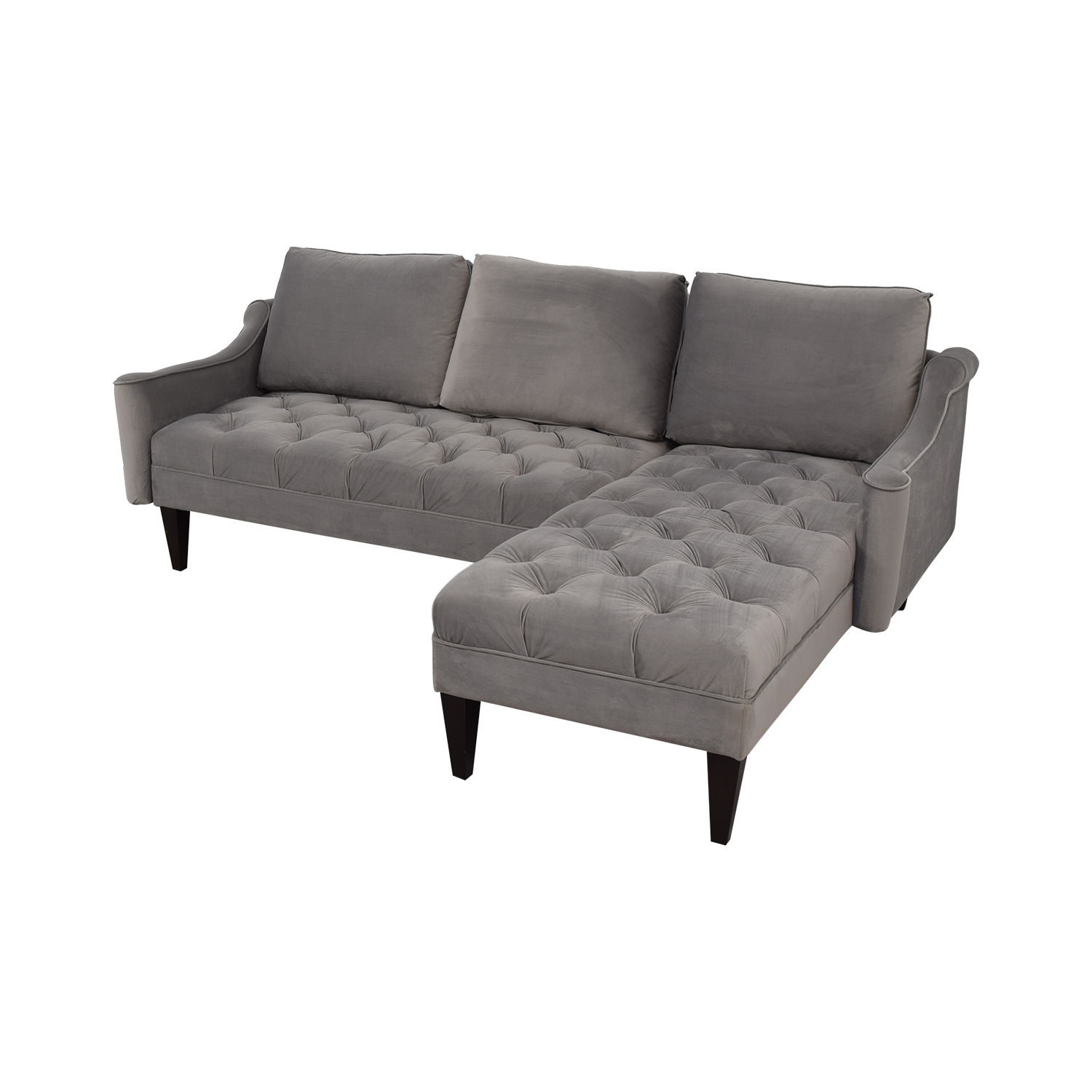 Awesome 71 Off Wayfair Wayfair Grey Tufted Chaise Sectional Sofas Spiritservingveterans Wood Chair Design Ideas Spiritservingveteransorg