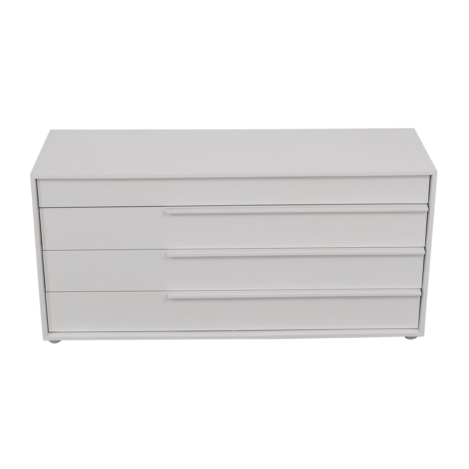 shop Modloft Jane Glossy White Four-Drawer Dresser Modloft