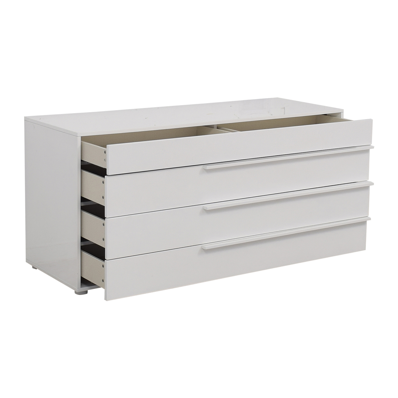 buy Modloft Jane Glossy White Four-Drawer Dresser Modloft Storage