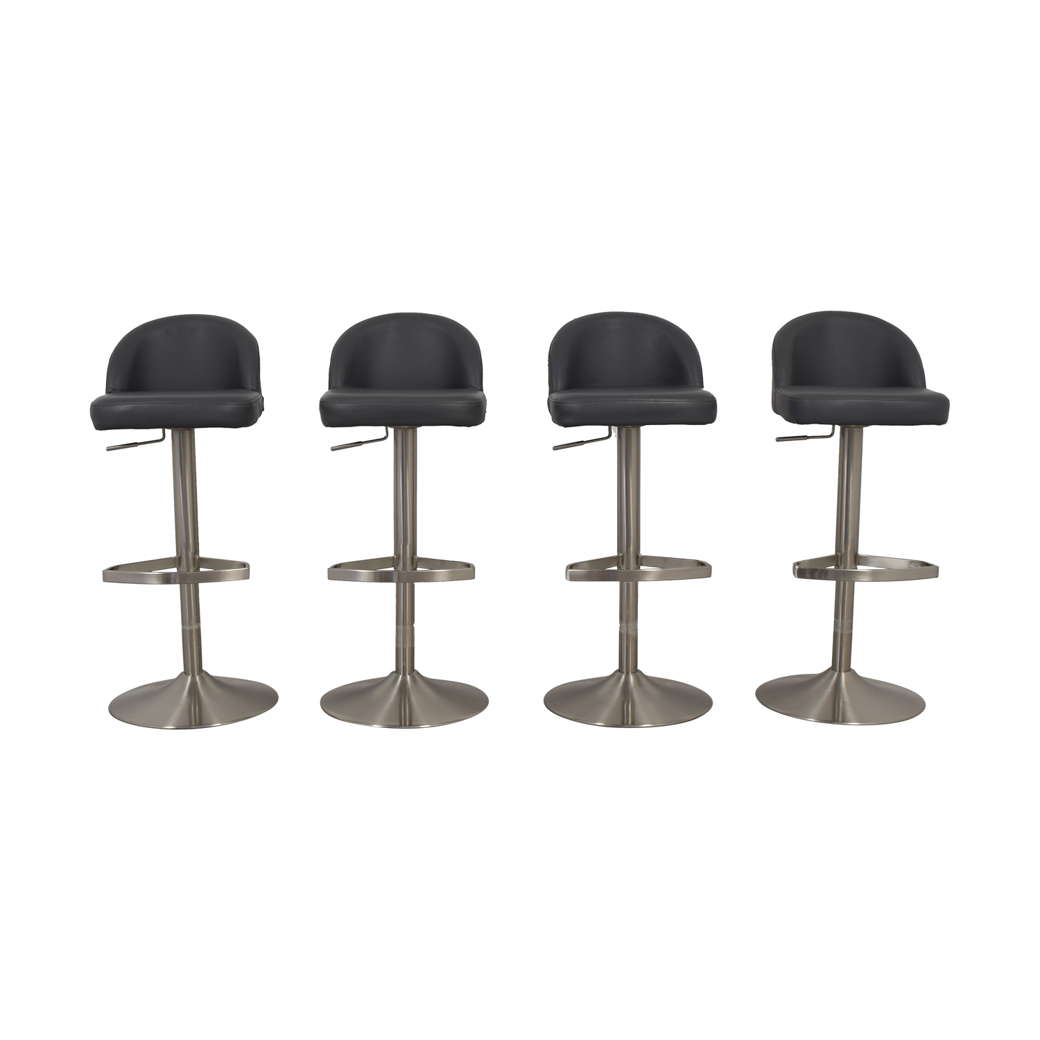 shop Zuri Contemporary Mimi Grey Bar Stools Zuri Contemporary Stools