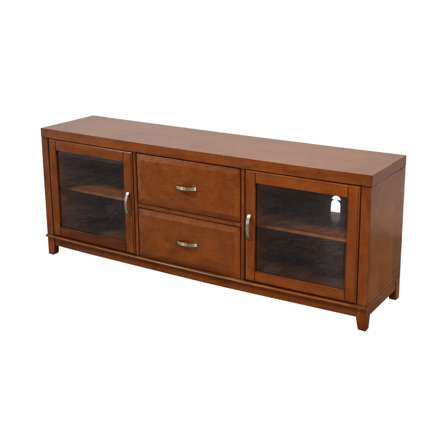 Raymour & Flanigan Raymour & Flanigan Wood and Glass Media Console coupon