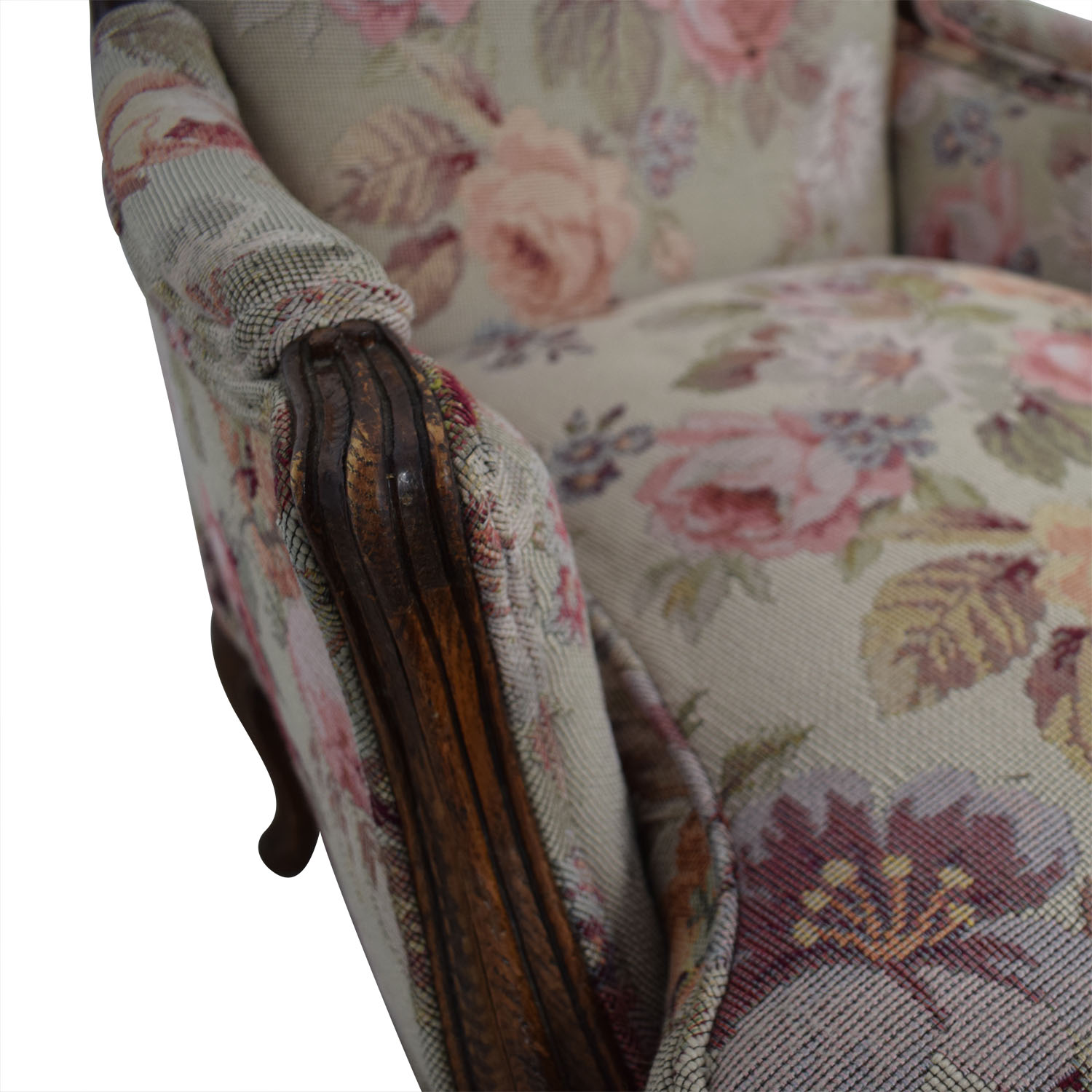 shop Floral Upholstered Arm Chair
