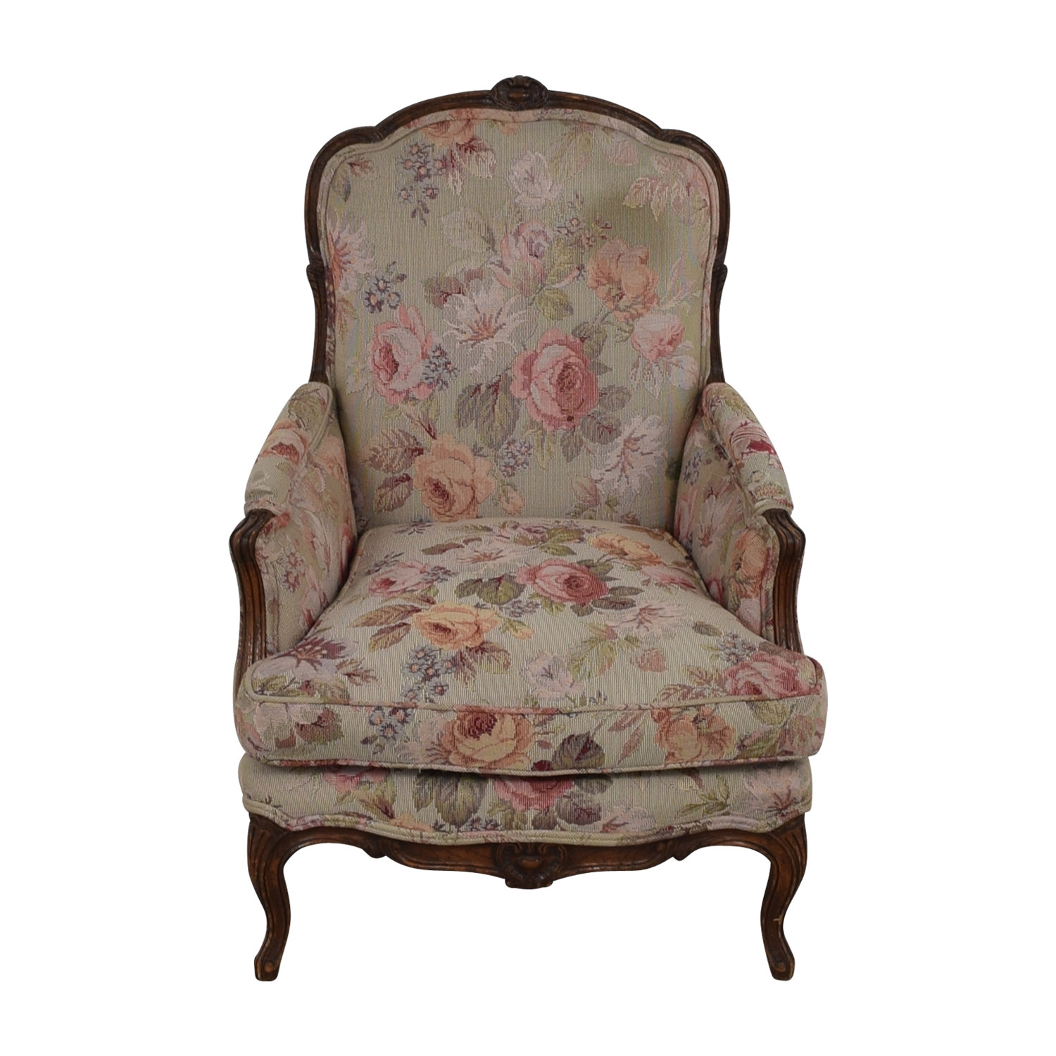 shop Floral Upholstered Arm Chair  Chairs