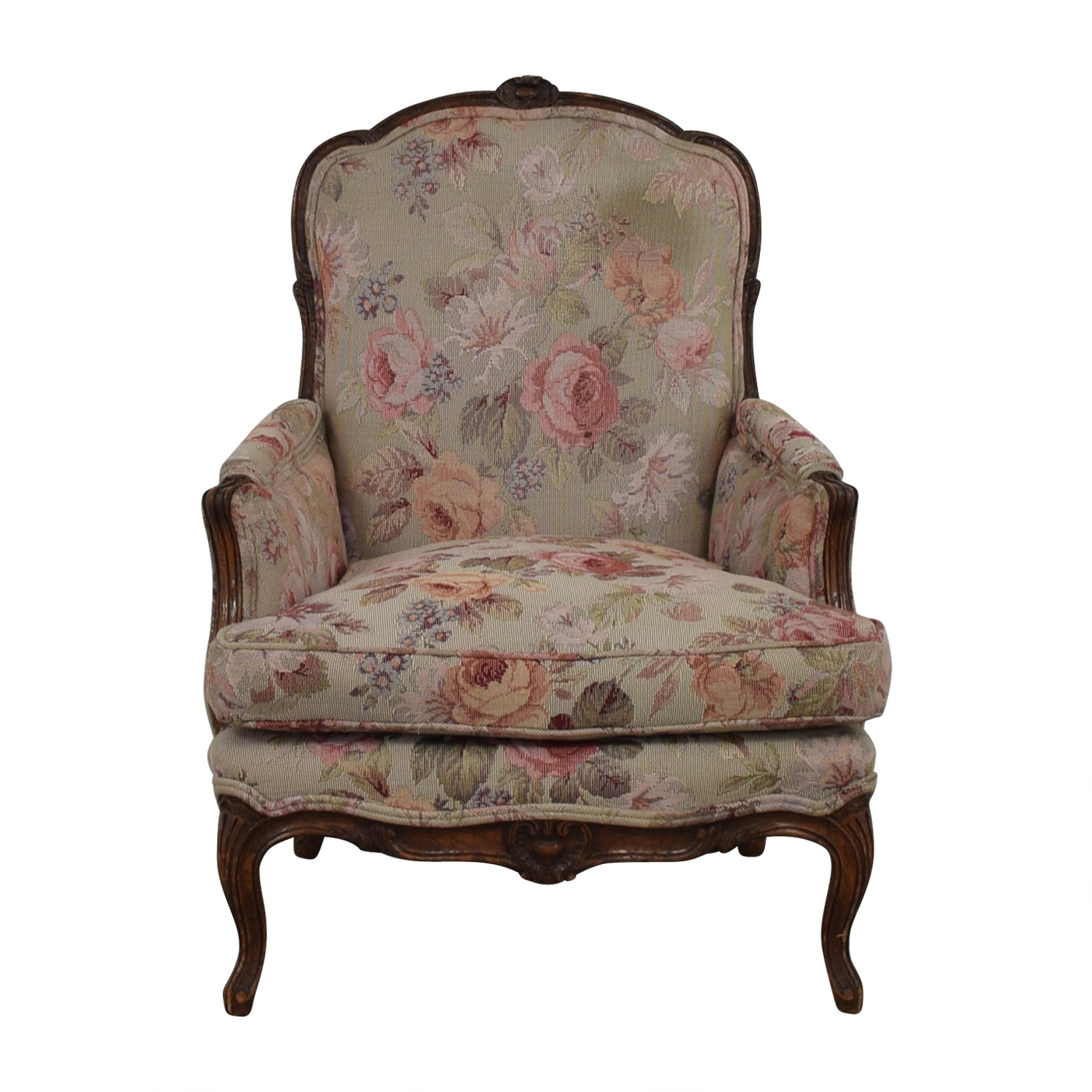 Floral Upholstered Arm Chair on sale