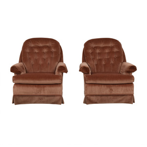 Broyhill Furniture Broyhill Tan Tufted Arm Accent Chairs Chairs