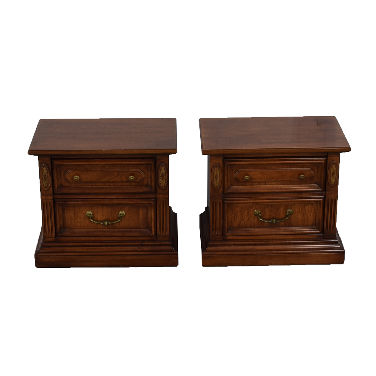 Stanley Furniture Stanley Furniture Wood Two-Drawer End Tables discount
