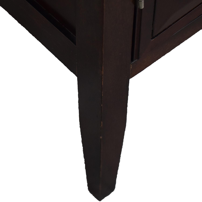 Bombay Company Wood Wine Bar Cabinet sale
