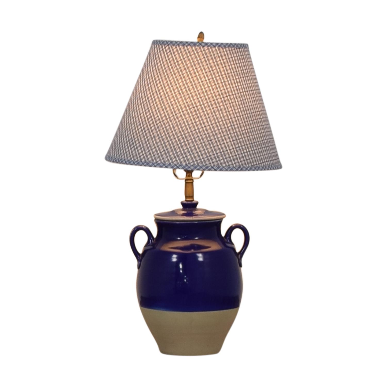 Pierre Deux Pierre Deux Blue Table Lamp on sale