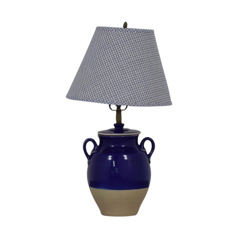 Pierre Deux Blue Table Lamp Pierre Deux