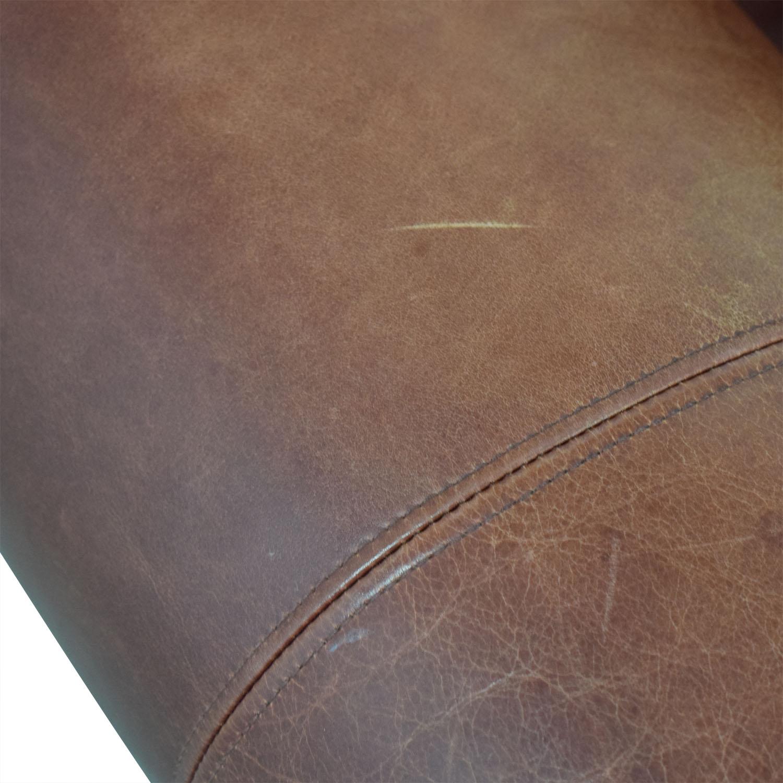 buy Zagaroli Classics Zagaroli Classics Oxblood Leather Sectional with Ottoman online