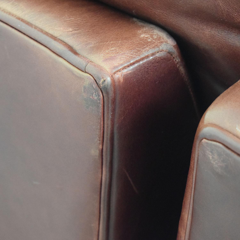 buy Zagaroli Classics Oxblood Leather Sectional with Ottoman Zagaroli Classics